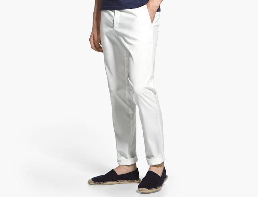 Calzado para pantalón blanco