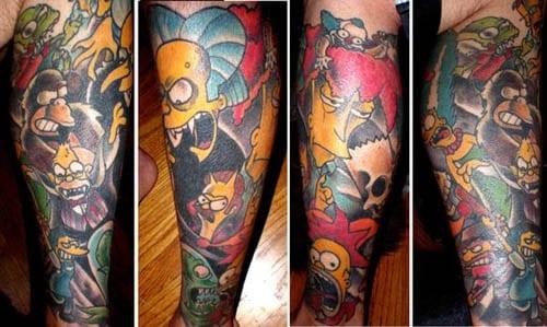 tatuajes fotos. tatuaje simpsons1 Cómo arreglar o eliminar tatuajes