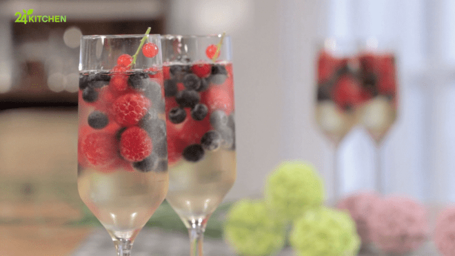 Gelatina de champagne