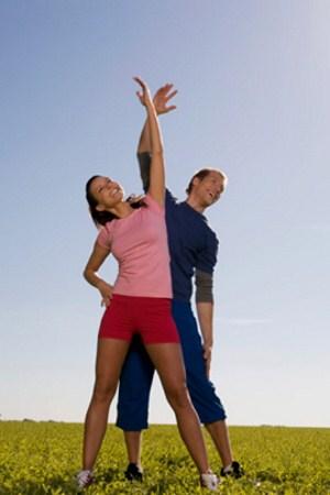 ejercicio pareja, divertido
