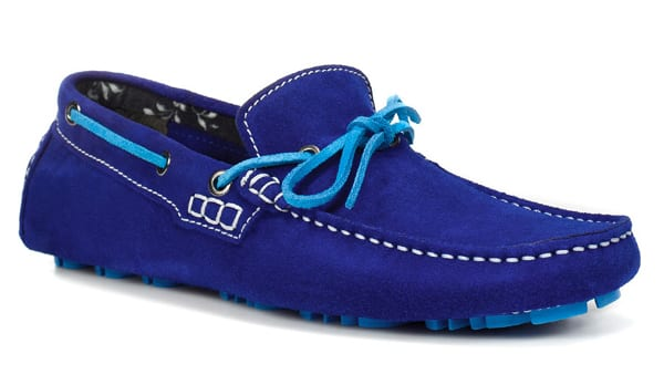 Mocasines azul eléctrico