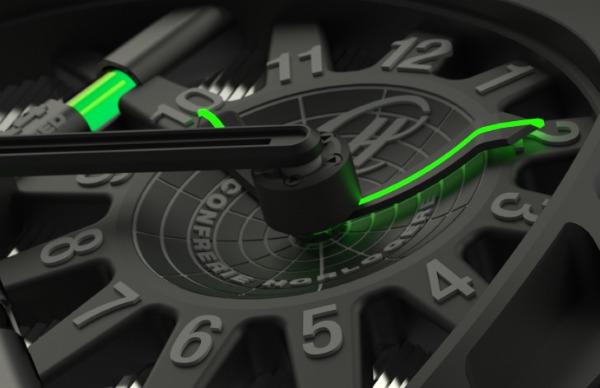 Reloj futurista de lujo