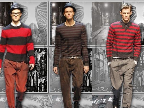 collage21 Dolce & Gabbana otoño invierno 2011 2012: rayas para todos