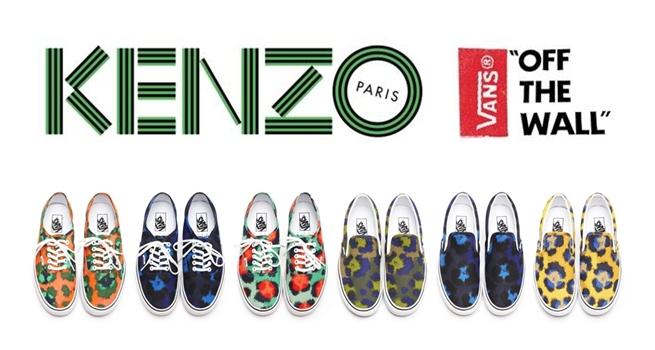 Animal print en zapatillas de Kenzo x Vans