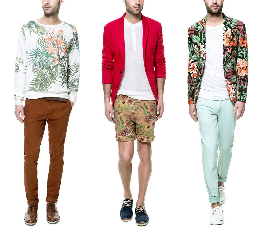 Estampados florales para la moda masculina de verano
