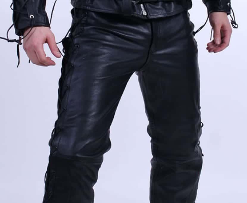 La Moda De Los Pantalones De Cuero Hombres Con Estilo