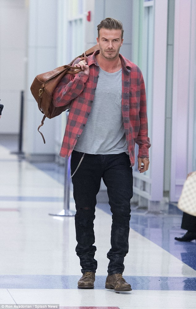David Beckham con look grunge