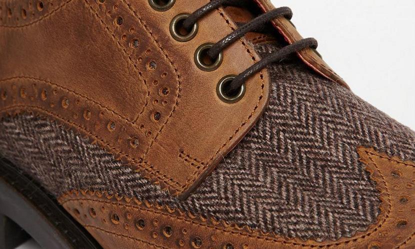 calzado tweed