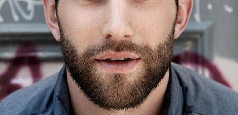 hombre con barba y piel seca