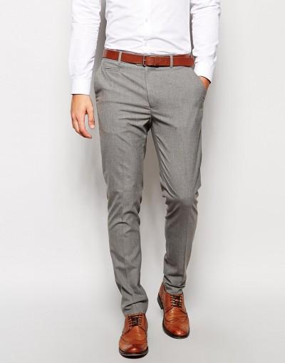 Pantalón de vestir gris de ASOS