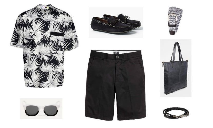 1-total look tropical en blanco y negro
