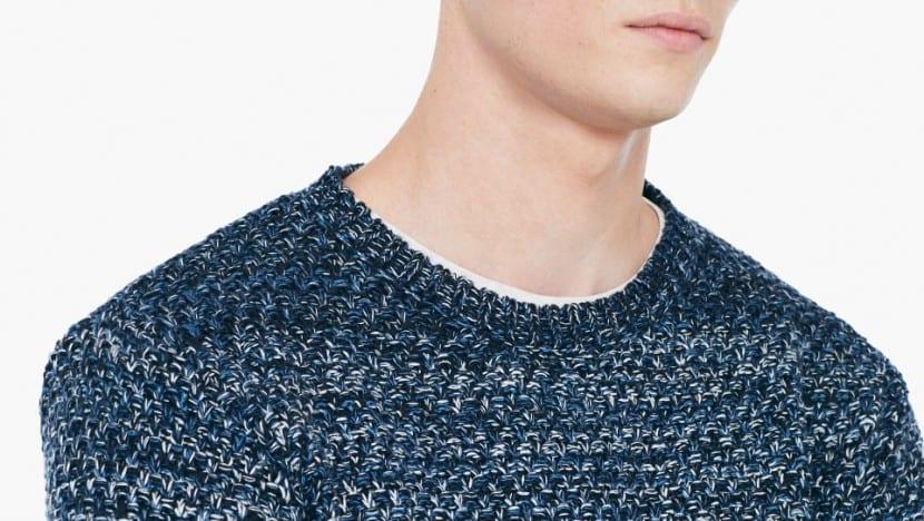 suéter de punto con textura otoño 2015
