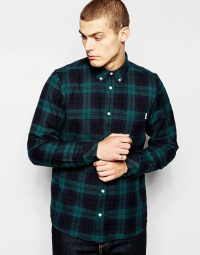 Camisa de cuadros verde de Carhartt