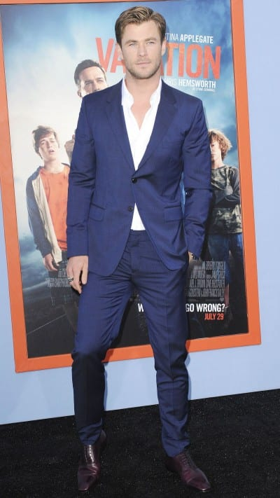 Chris Hemsworth en el estreno de 'Vacaciones'