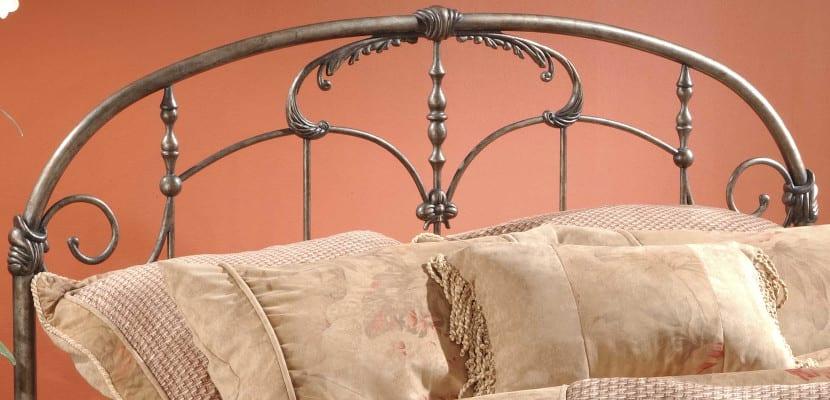 Cabecero de cama de hierro forjado