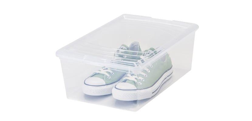 Caja de plástico para zapatos