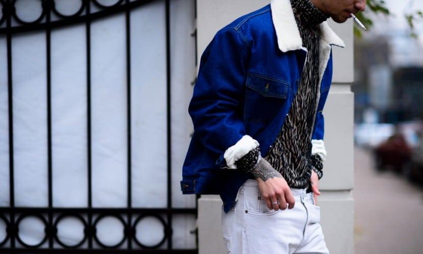Moda en la calle, animal print para hombres (6)