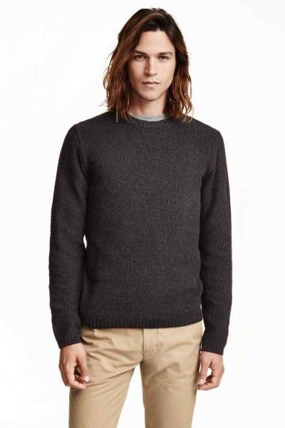 Jersey de punto con textura de H&M