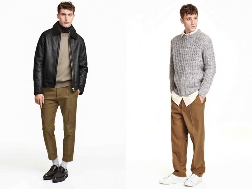 Pantalones de traje con perneras anchas de H&M