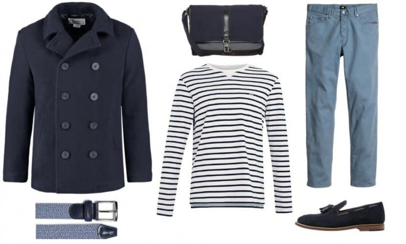 total look navy winter