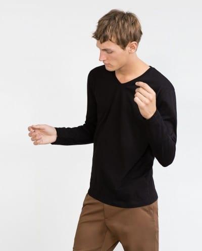 Camiseta de manga larga de Zara