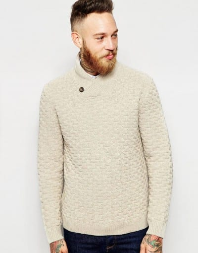 Jersey con cuello esmoquin de ASOS