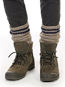 Calcetines altos con rayas