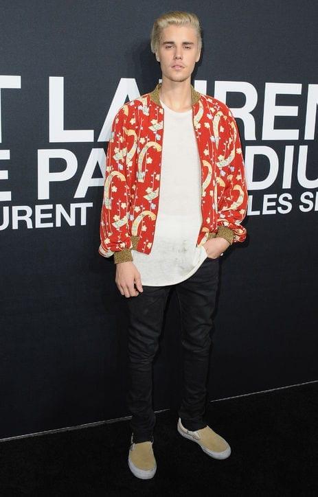 Justin Bieber en la presentación de la colección otoño/invierno 2016-2017 de Saint Laurent