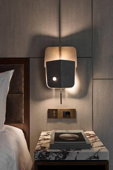 Lámpara de las suites privadas de Fendi