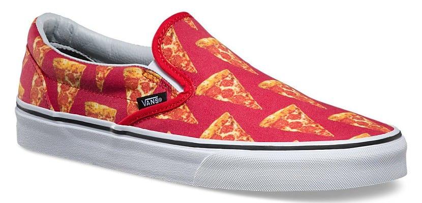Vans con estampado de pizza