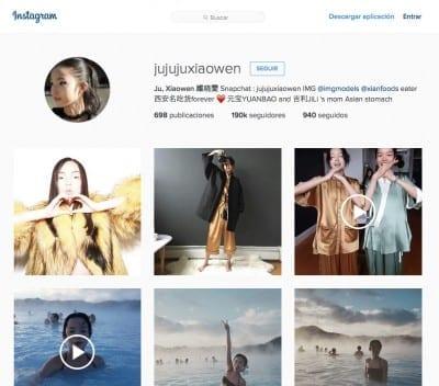 Instagram de Xiao Wen Ju