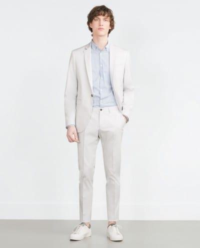 traje blanco roto