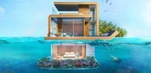 Una de las villas flotantes planedas en Dubái