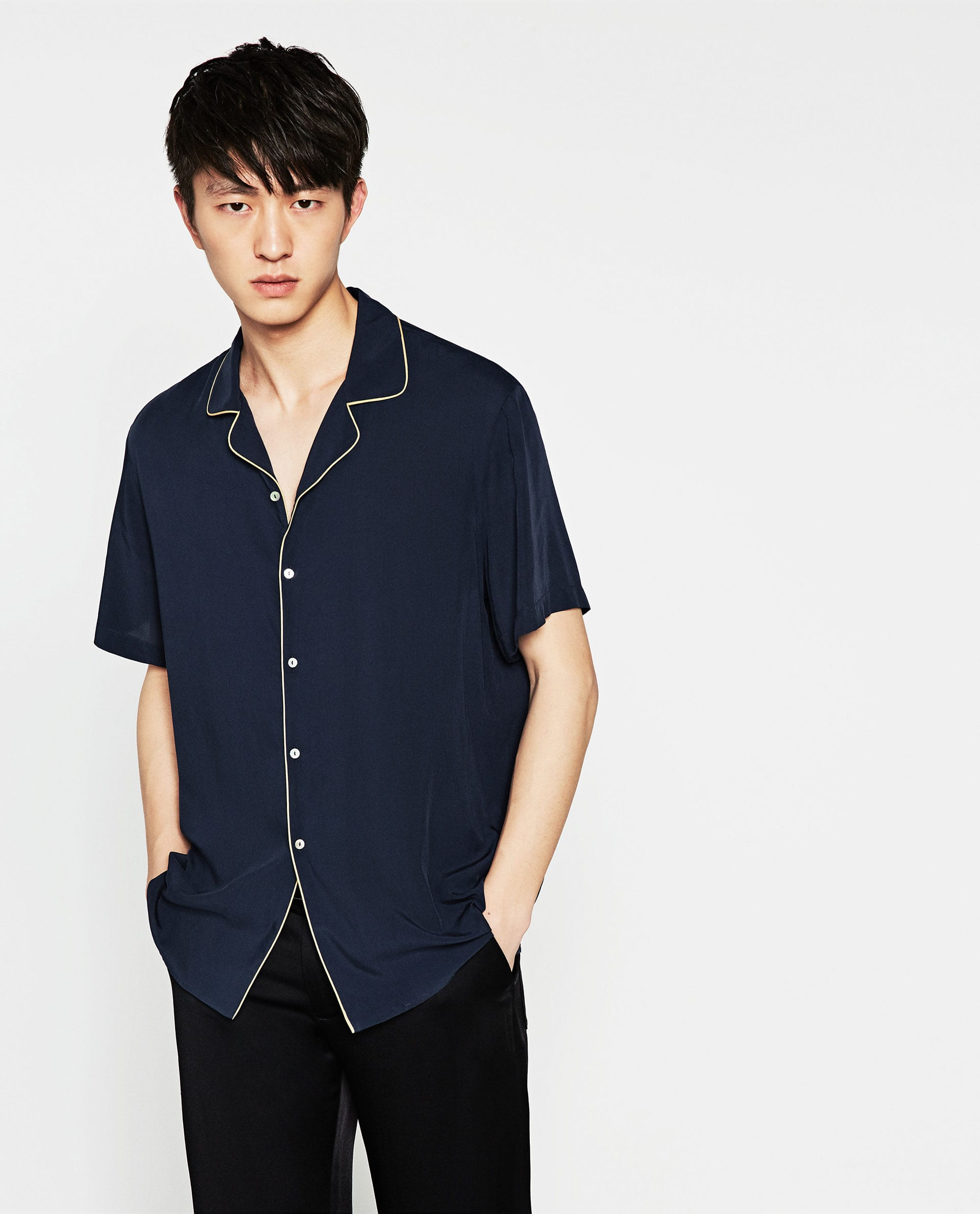 Alto Jersey Cuello Camiseta Hombre Zara1 RL5j34qcAS