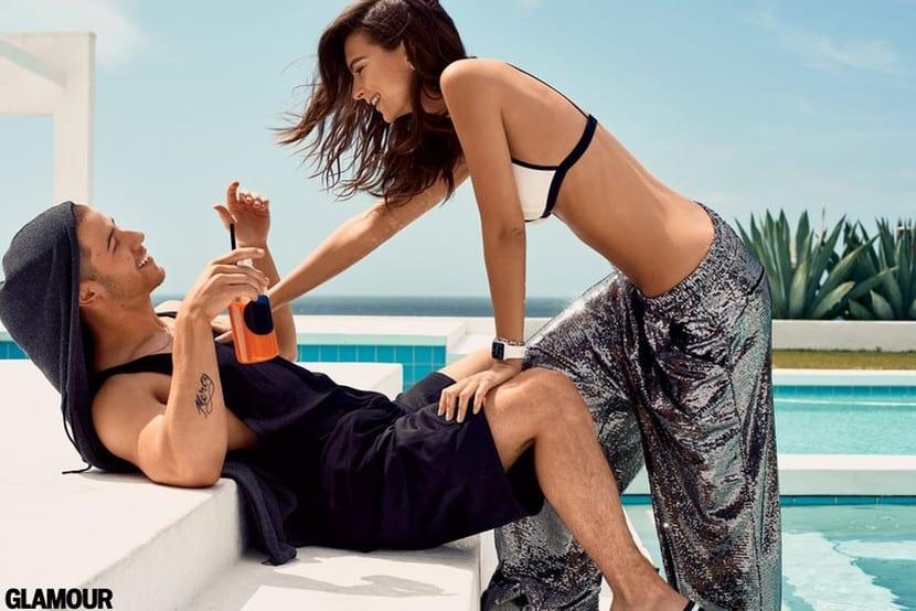 Nick Jonas y Emily Ratajkowski en la revista Glamour