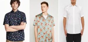 Tipos de camisa de manga corta