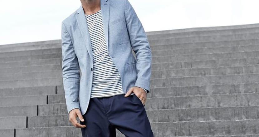 Americana+Blazer azul de Selected Homme