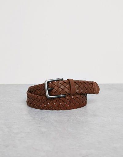 Cinturón trenzado de Bershka