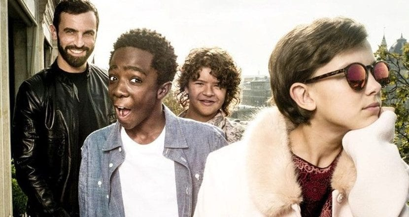 Niños de 'Stranger Things' en Louis Vuitton