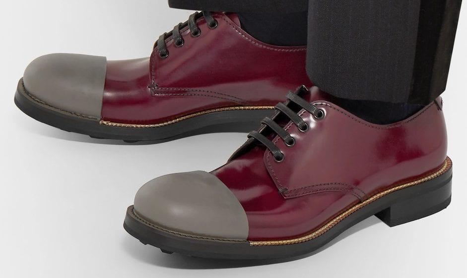 zapato bicolor prada