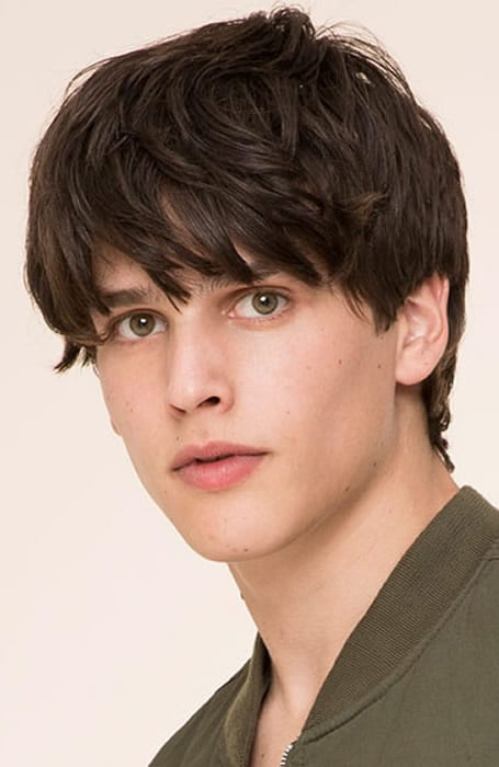 Corte cabello hombre fleco