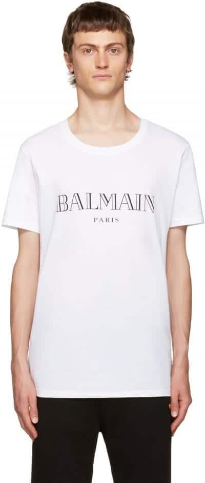 Camiseta Balmain con logo