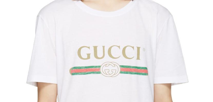 Camiseta Gucci logo 80s
