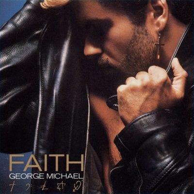 George Michael en la portada de 'Faith'
