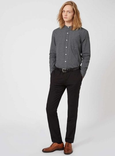 Camisa de Topman con cuello  mao