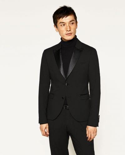 Esmoquin negro de Zara