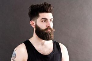 Línea de mejillas para barba