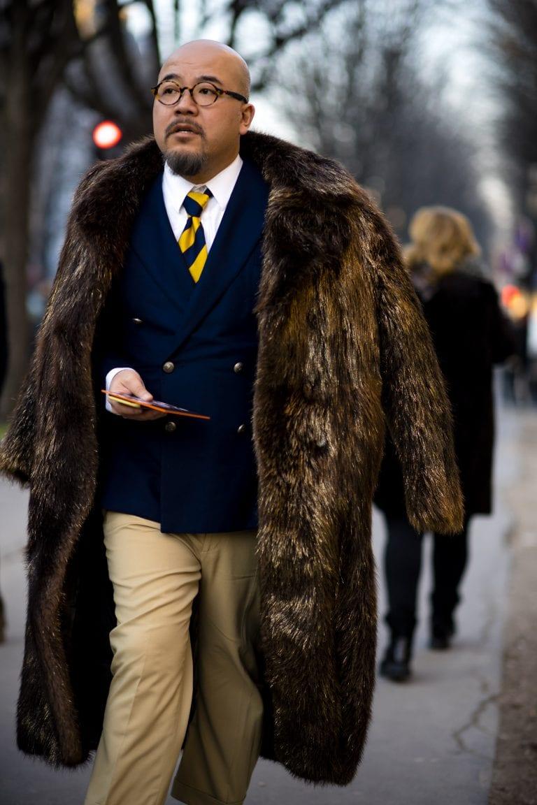 Abrigo piel sintetica hombre