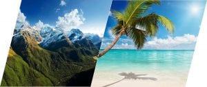 playa o montaña