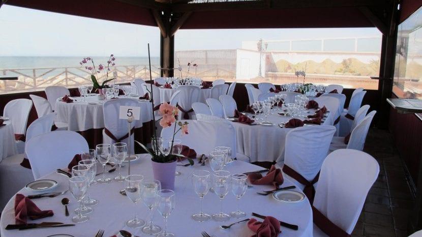 mesas para eventos